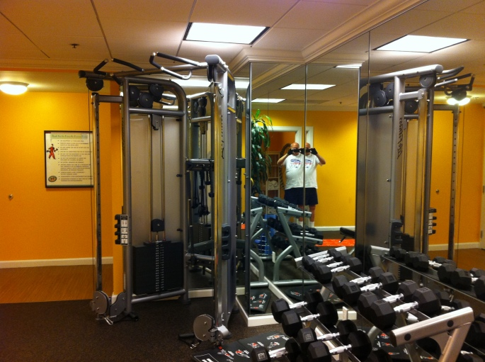 exercise room at Monoco, Chi