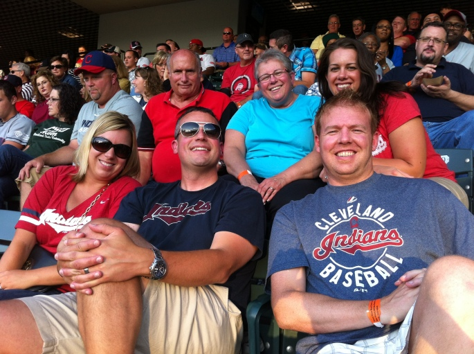 with the family at a tribe game