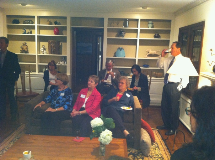 fund raiser for David Pepper at Jane and rick Buder's