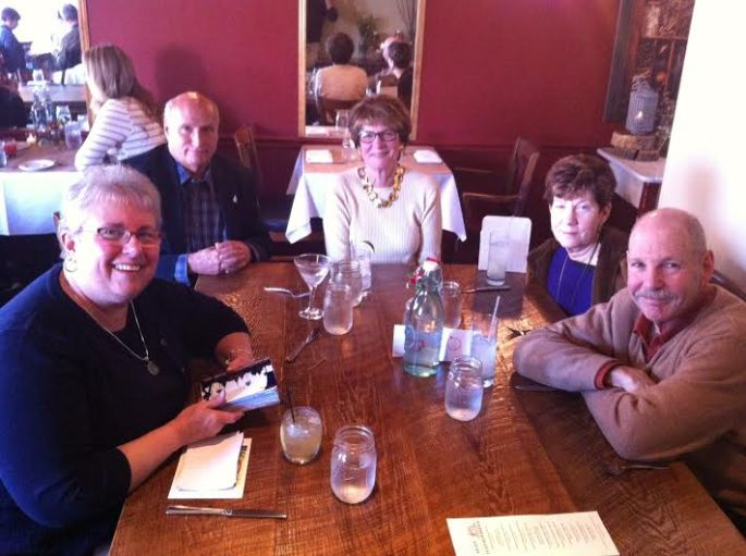Sharon, me, Linda, Sherrie, and Dave 6 April 2014