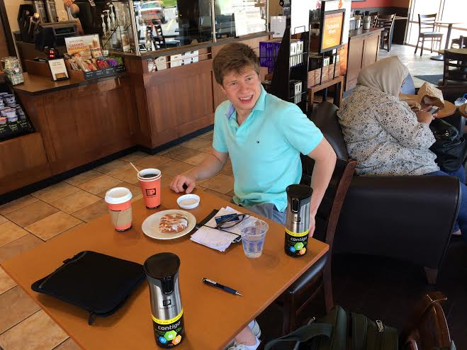 Daniil at Peet's - last day it was open 1 June 2014.