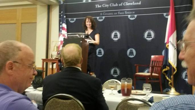 Amy Hanauer at the City Club