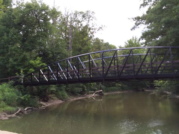 bike/ped bridge over river