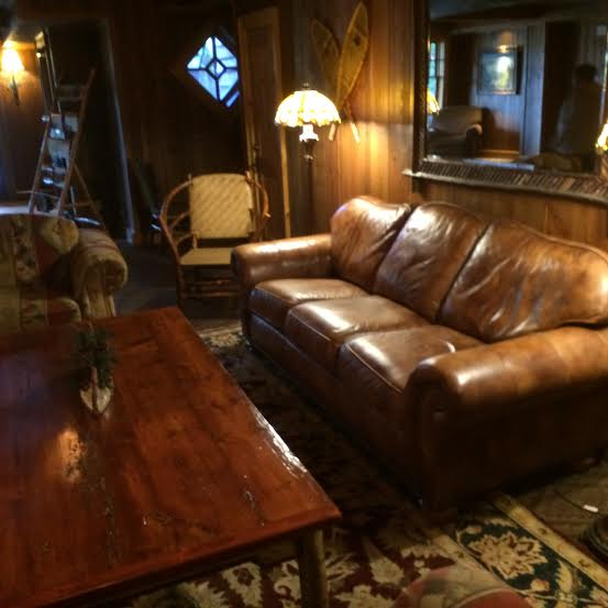 central lounge area at Whiteface Lodge