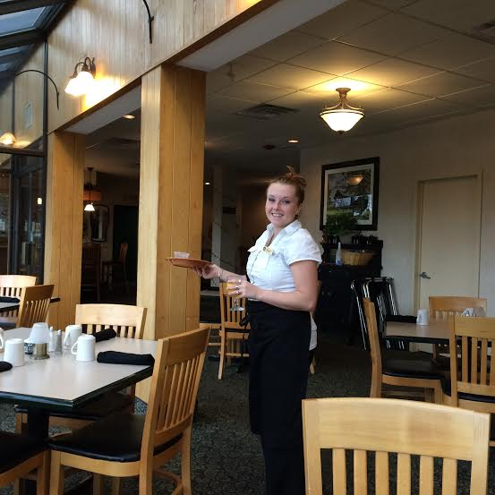 Service with a smile from the lovely Shannon in the dinning room at BW