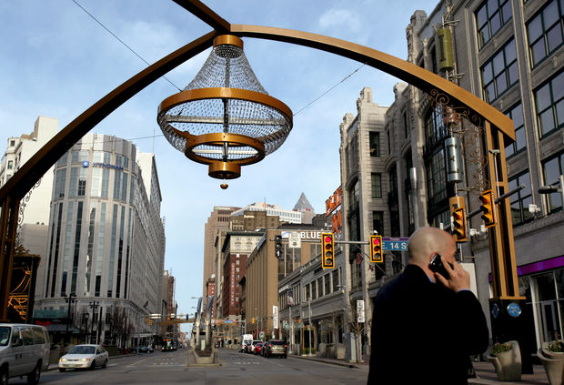 Chandelier on PlayHouse Square, Cleveland