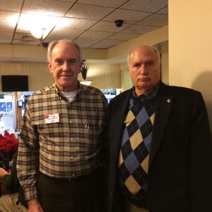 with former neighbor Craig Eilmann