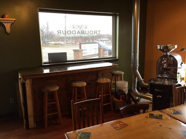 coffee roaster at Troubadours