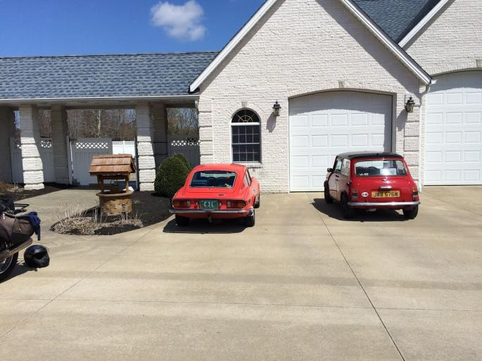 Cars by the garage 11 April 2015