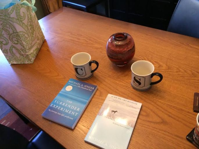 Two books and two cups...