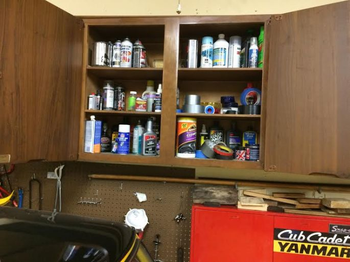 cabinets in garage