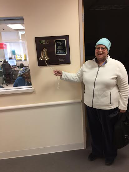 The bell for the final chemo