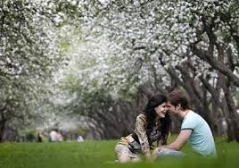 In spring...