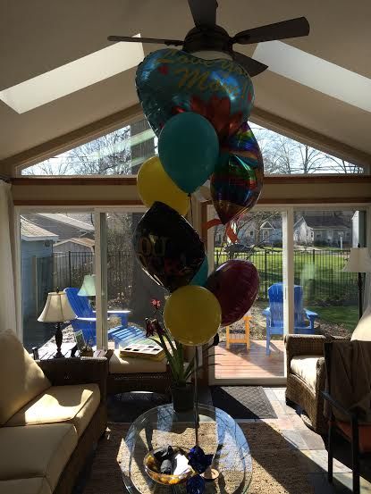baloons for Sharon from Allen and Sarah.