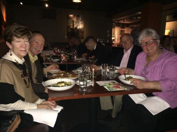 four at dinner.