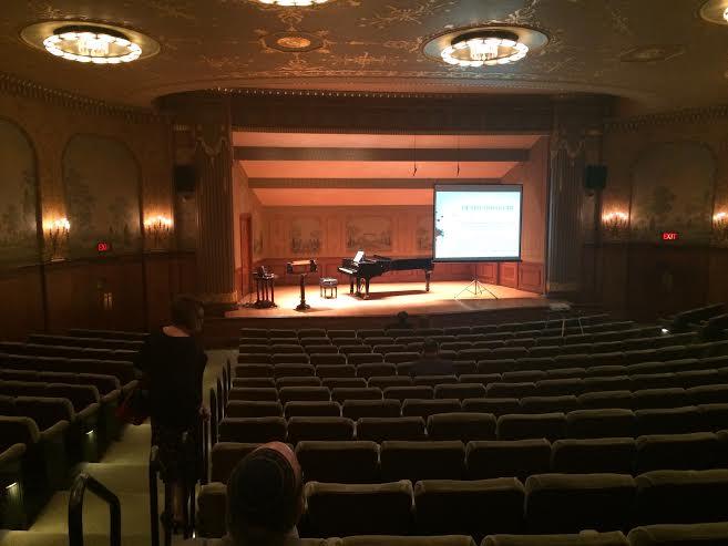 preconcert lecture set up