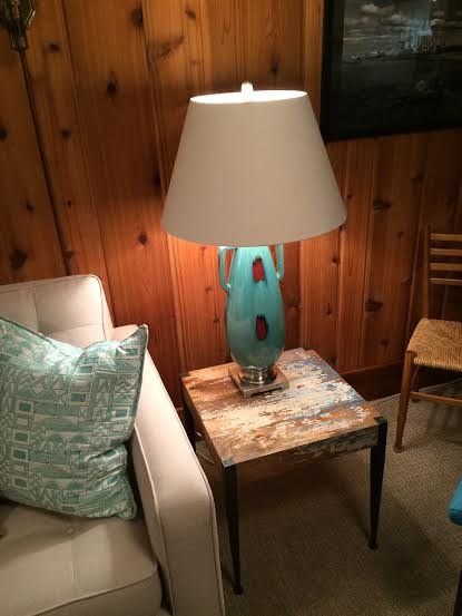 new lamp on new table