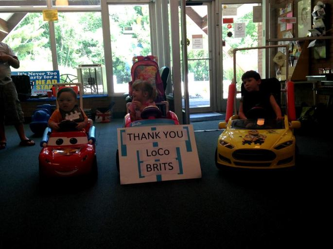 Members of LOCO Brits build 10 of these cars for special needs kids