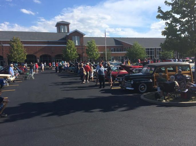 car show at Bay Middle school (Sharon had taught at that location)
