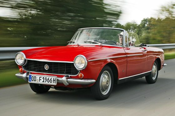 My first car was a red 1966 Fiat 1500 Spyder.