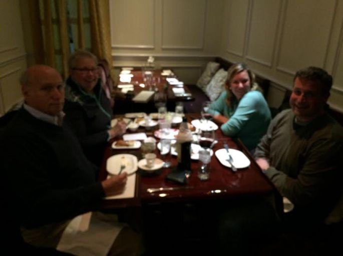 four at dinner